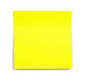 Yellow sticky note with shade Stock Photography