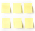 Yellow sticky reminder note waiting for your message add own text or design Stock Image