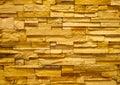 Yellow stone block wall Stock Photo