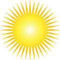 Yellow Sun Stock Photography