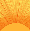Yellow sun rays background Royalty Free Stock Photo