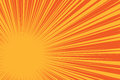 Yellow sun on a red background, pop art comic background Royalty Free Stock Photo