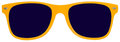 Yellow Sunglasses, Shades, Isolated on White Royalty Free Stock Photo