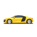 Yellow super car isolated on the white background ready to use illustration Stock Photography