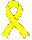 Yellow Support the Troops Ribbon Stock Image