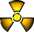 Yellow symbol of radiation Royalty Free Stock Image