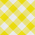 Yellow table cloth Royalty Free Stock Photo