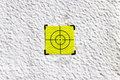 Yellow target point on white background concept image Stock Images