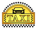 Yellow taxi blazon