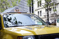 Yellow taxi cab Royalty Free Stock Photos