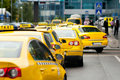 Yellow taxi cabs Royalty Free Stock Photo