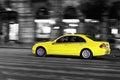 Yellow taxi Royalty Free Stock Photo