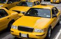 Yellow taxi new york city in time square usa Royalty Free Stock Images