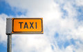 Yellow taxi parking mark Royalty Free Stock Photography