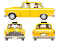 Yellow taxicab Royalty Free Stock Photo