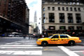 Yellow taxicabs in manhattan new york city oct taxicab on october there are about cabs on the road Stock Photo