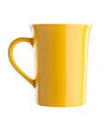 Yellow tea cup isolated on white Royalty Free Stock Photo