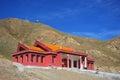 Yellow temple of bayanbulak xinjiang china Royalty Free Stock Images
