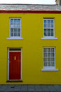 Yellow terraced house Royalty Free Stock Photo