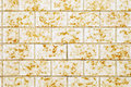 Yellow tiled wall close up of a outdoor saarland germany Royalty Free Stock Image