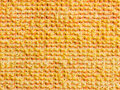 Yellow towel background made of cotton Royalty Free Stock Photo