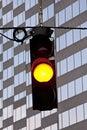 Yellow Traffic Signal Royalty Free Stock Photo