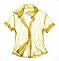Yellow Transparent shirt Stock Photo