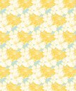 Yellow tropical floral pattern, seamless for fabrics and wallpaper