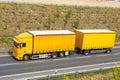 Yellow truck Royalty Free Stock Photo