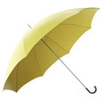 Yellow umbrella isolated on white background d render Royalty Free Stock Image