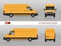 Yellow van template