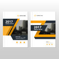 Yellow Vector annual report Leaflet Brochure Flyer template design, book cover layout design Royalty Free Stock Photo