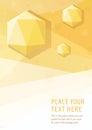 Yellow vector geometric graphic style background with hexagon diamonds