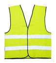 Yellow vest isolated on the white background Royalty Free Stock Photography