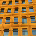 Yellow wall of a modern building Royalty Free Stock Image