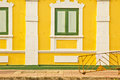 Yellow wall a nice of historical building in thailand Royalty Free Stock Photo