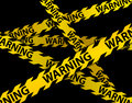 Yellow WARNING lines Stock Photos