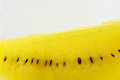 Yellow watermelon close up on white background Stock Photography