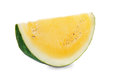 Yellow watermelon isolated on white background Royalty Free Stock Photos
