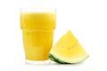 Yellow watermelon smoothie Royalty Free Stock Photo