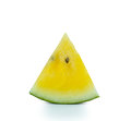 Yellow watermelon on white background Stock Photo