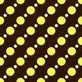 Yellow, White and Brown Polka Dot Fabric Background Royalty Free Stock Images
