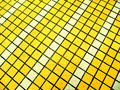 Yellow and white mosaic tiles texture for background purpose Stock Photo
