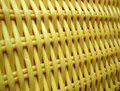 Yellow wickerwork Stock Photos