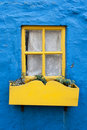 Yellow window Royalty Free Stock Photography