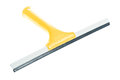 An yellow window squeegee isolated on white Stock Image