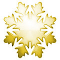 Yellow winter snowflake Royalty Free Stock Photography