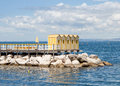 Yellow wooden cabins in sorrento Stock Photography