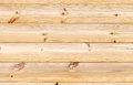 Yellow wooden wall made of pine tree boards natural background texture Royalty Free Stock Images