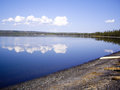 Yellowstone Lake Reflections Royalty Free Stock Photos